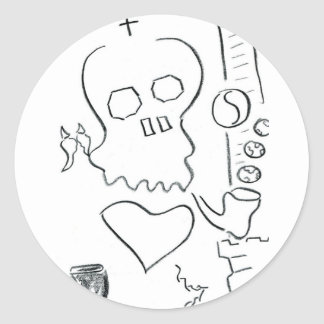 Bob Dobbs Skull Sticker