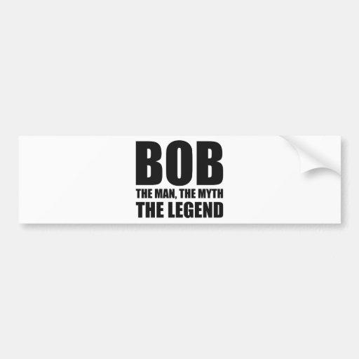Bob el hombre el mito la leyenda pegatina para auto