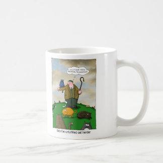 Bob el pastor del gato - encargado del analista de taza de café