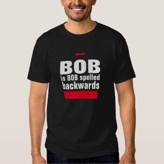 Bob es al revés camisa deletreada Bob