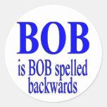 Bob es Bob al revés Etiquetas Redondas