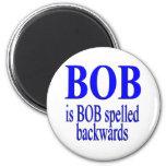 Bob es Bob al revés Imanes Para Frigoríficos