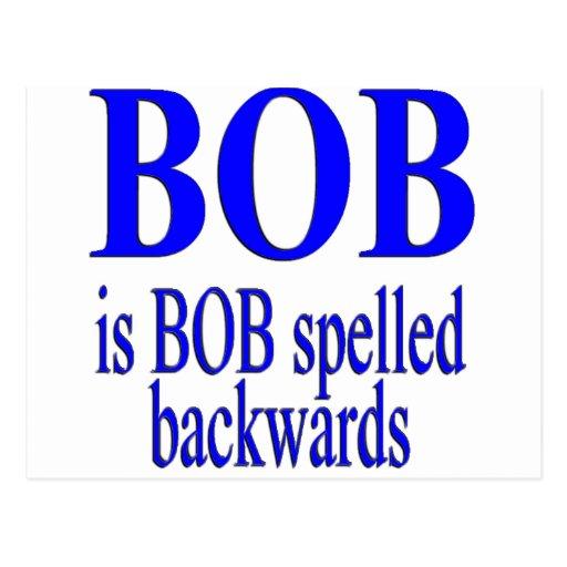 Bob es Bob al revés Postal