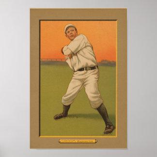 """Bob Groom 11x16"""" vintage baseball poster"""