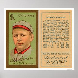 Bob Harmon Cardinals Baseball 1911 Poster