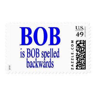 Bob is Bob backwards Postage Stamp