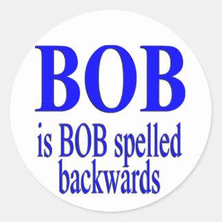Bob is Bob backwards Sticker