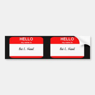 Bob L. Hedahl (bobble-head doll) Bumper Sticker