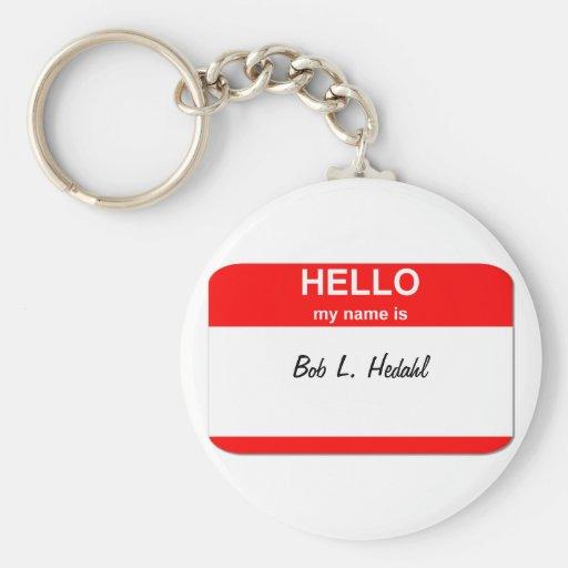 Bob L. Hedahl (muñeca de la bobble-cabeza) Llavero Redondo Tipo Pin