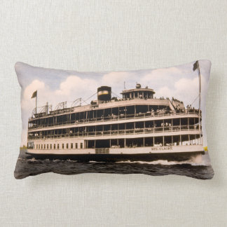 Bob-Lo Boat Ste. Claire Vintage Great Lakes Lumbar Pillow