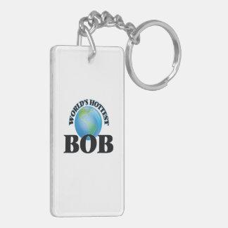 Bob más caliente del mundo llavero rectangular acrílico a doble cara