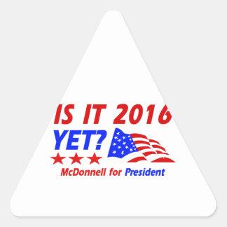 Bob Mcdonnell for President designs Triangle Sticker