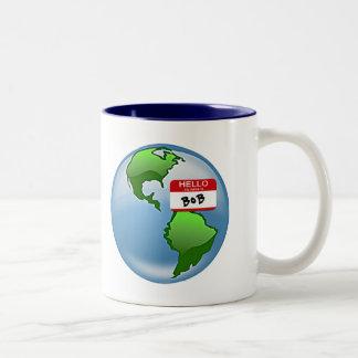 Bob nombrado tierra taza de café