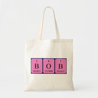 Bob periodic table name tote bag