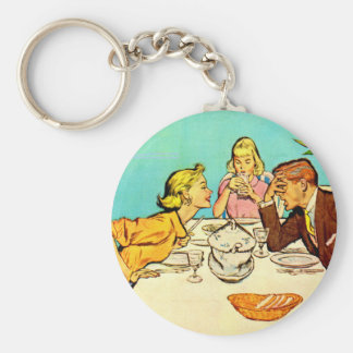Bob's had it with June's dinner chatter Keychain