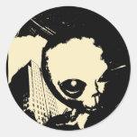 Bob the Alien Round Sticker