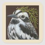 Bob the black and white warbler stickers