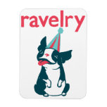Bob the Boston Terrier Ravelry Magnet