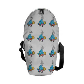 Bob The Crayfish Cartoon Surfer Courier Bag