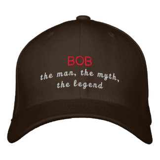 Bob the legend embroidered baseball cap