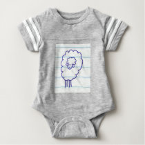 Bob the Lonely Sheep Baby Bodysuit