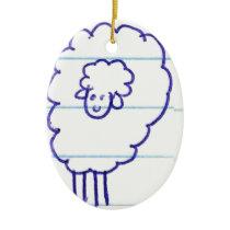 Bob the Lonely Sheep Ceramic Ornament