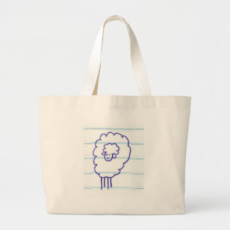 Bob the Lonely Sheep Large Tote Bag