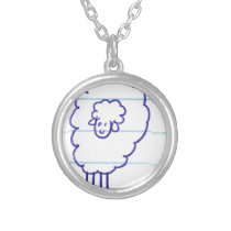 Bob the Lonely Sheep Silver Plated Necklace
