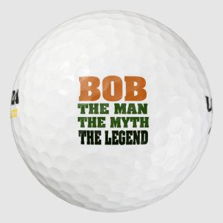 Bob the Man, the Myth, the Legend Golf Balls