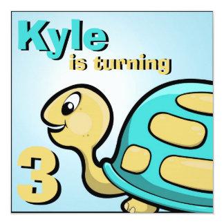 Bob the Turtle Kids Birthday party Invitation