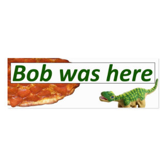 Bob was here - Pizza card Double-Sided Mini Business Cards (Pack Of 20)