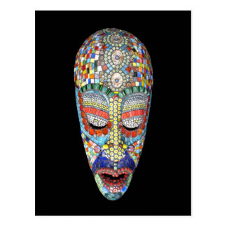 Bob, Why the Long Face? Mosaic Mask Postcard