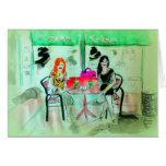 Boba de consumición en la estación del té en San D Felicitación