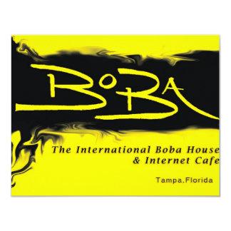 "Boba Logo 4.25"" X 5.5"" Invitation Card"