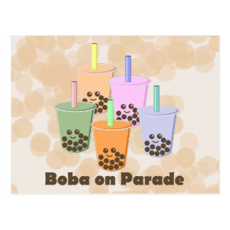 Boba on Parade Post Cards