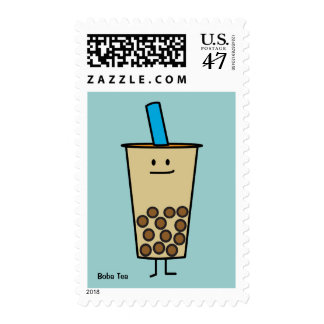 Boba Pearl Bubble Tea Stamp