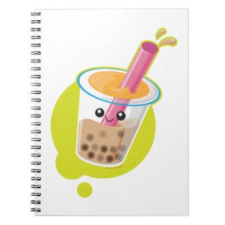Boba Tea Spiral Note Book