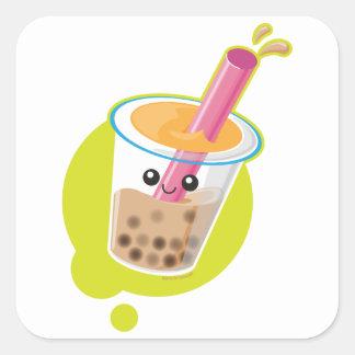 Boba Tea Square Sticker