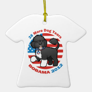 Bobama divertido las elecciones del perro 2012 ornamento para arbol de navidad