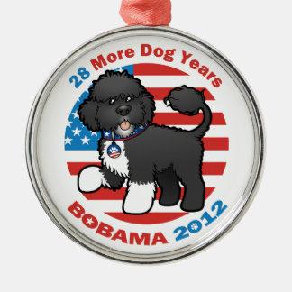Bobama divertido las elecciones del perro 2012 adorno para reyes