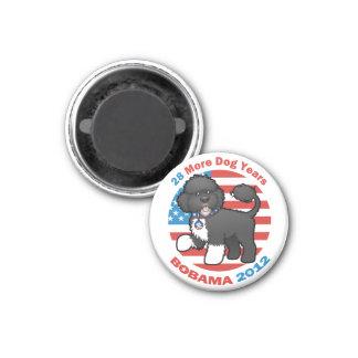 Bobama divertido las elecciones del perro 2012 imán redondo 3 cm