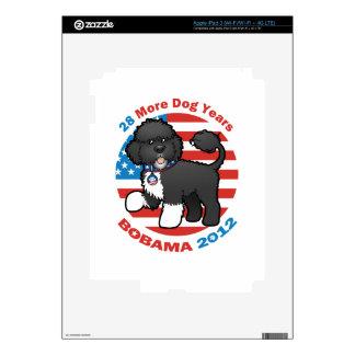 Bobama divertido las elecciones del perro 2012 iPad 3 pegatina skin