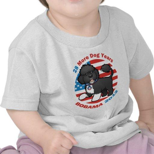 Bobama divertido las elecciones del perro 2012 camisetas