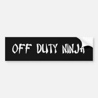 Bobba, N.I.T., O.D.N. Bumper Sticker