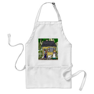 Bobbe, a little girl, a goat ,in the shtetel aprons