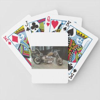 bobber bike bicycle playing cards