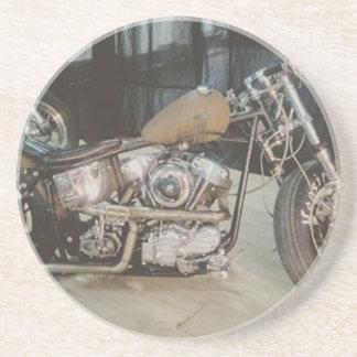 bobber bike sandstone coaster