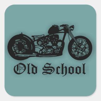 Bobber de la escuela vieja pegatina cuadrada