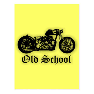 Bobber de la escuela vieja tarjeta postal