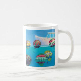 Bobber Fish Bulbs Christmas mug